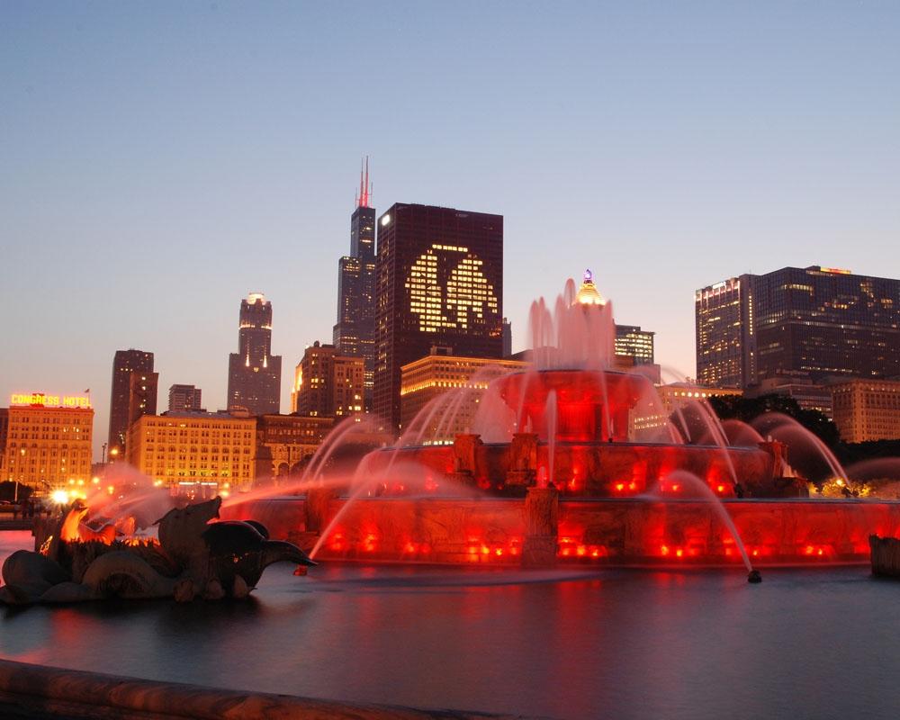 Chicago Blackhawks Skyline Stanley Cup Finals 2010