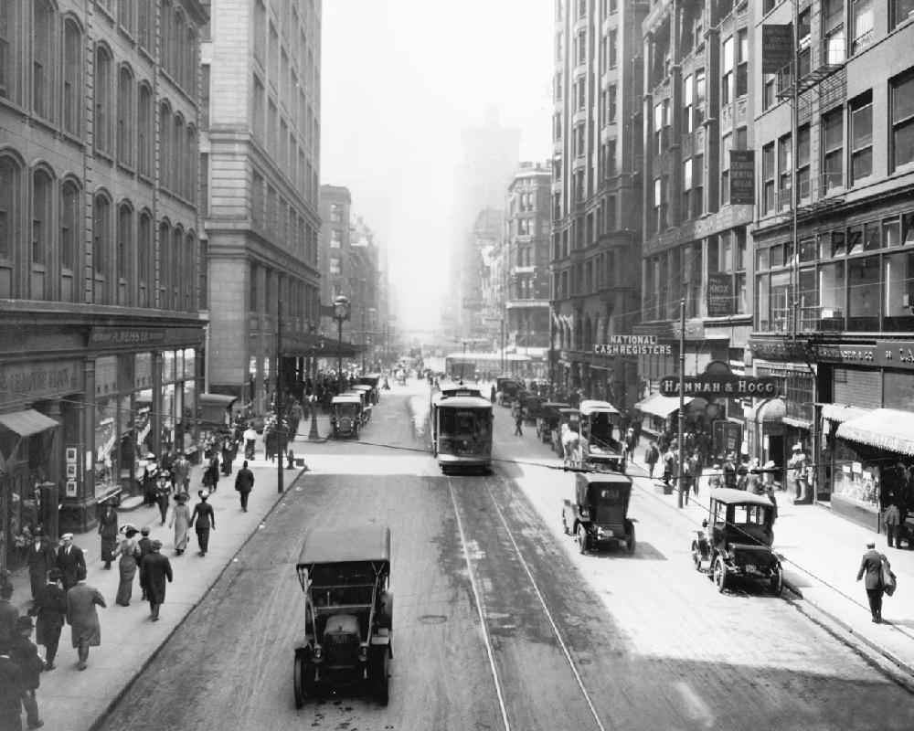 Randolph Street Vintage Chicago Chicago History Framed