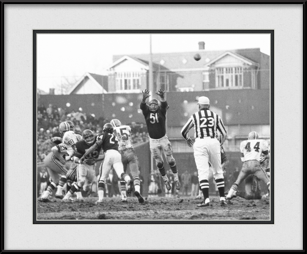 3115b0b7 Vintage Chicago Bears Black & White - Dick Butkus Defense | Chicago ...